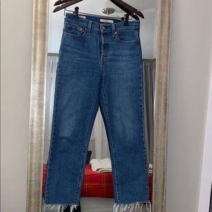 """Dark Wash """"Wedgie"""" Levi's Jeans"""